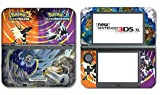 #10: Pokemon Ultra Sun Moon Solgaleo Lunala Legendary Video Game Vinyl Decal Skin Sticker Cover for the New Nintendo 3DS XL LL 2015 System Console