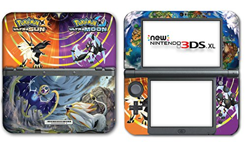 Pokemon Ultra Sun Moon Solgaleo Lunala Legendary Video Game Vinyl Decal Skin Sticker Cover For The New Nintendo 3Ds Xl Ll 2015 System Console