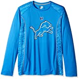 NFL Detroit Lions Men's Full Support Synthetic Shirt, Medium, Authentic Red/White/Classic Pewter