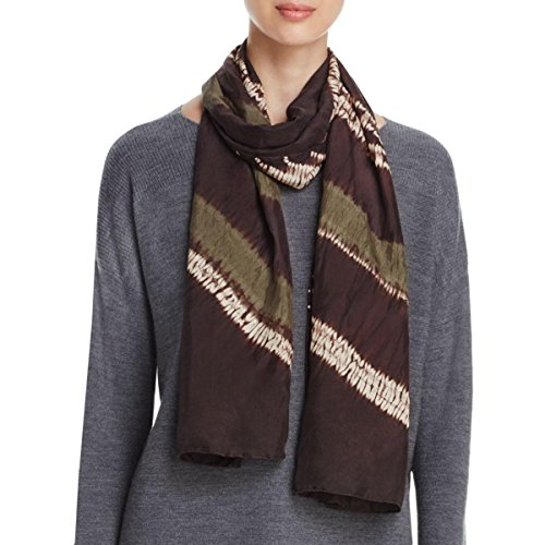 Eileen Fisher Womens Silk Pattern Decorative Scarf Brown O/S by Eileen Fisher