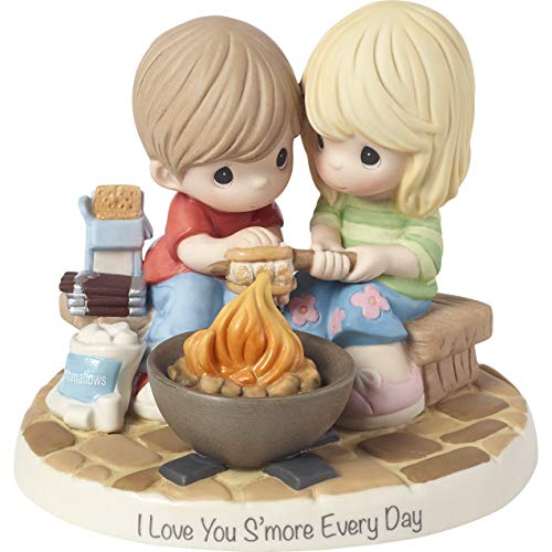 Hand Painted Bisque Porcelain - Precious Moments Love You Smore Every Day Bisque Porcelain 183002 Figurine One Size Multi