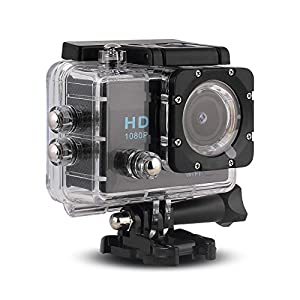 CetNova Action Video Camera, Portable Sports DV Outdoor Camera with Waterproof Case, Full HD Car Recorder Diving/Bicycle/Motorbike Camcorder CAR DVR/ Sports Camera, 30 M Water Resistant,