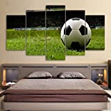 Canvas Painting Kit Football Sports Canvas Wall Art Boys Bedroom Decor Kids Room Vintage Sports Art Football Decor For Sports Room & Game Room Great Gift Large Size With Framed