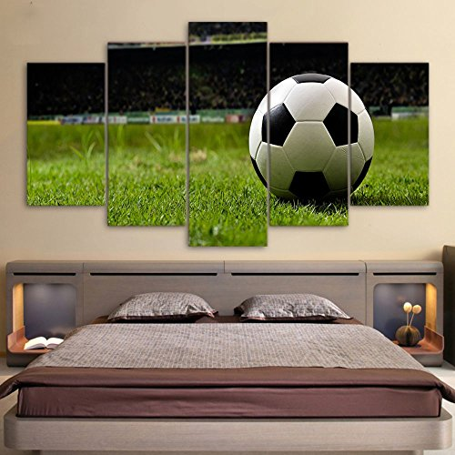 Canvas Painting Kit Football Sports Canvas Wall Art Boys Bedroom Decor Kids Room Vintage Sports Art Football Decor For Sports Room & Game Room Great Gift Large Size With Framed by Garth