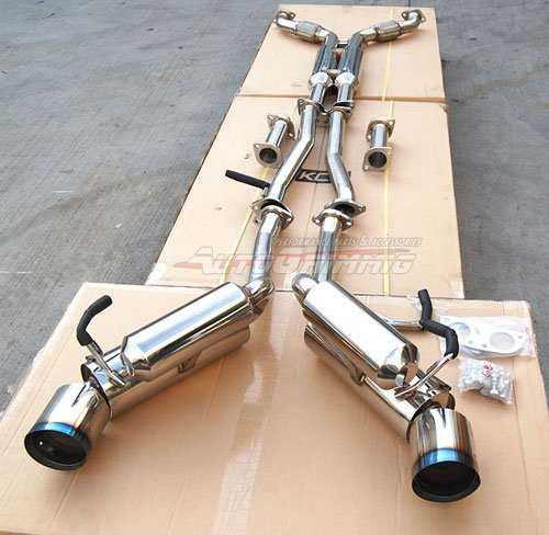 03-07 Infiniti G35 Coupe Stainless Steel Dual Exhaust with Y-Pipe 03 04 05 06 07 ()