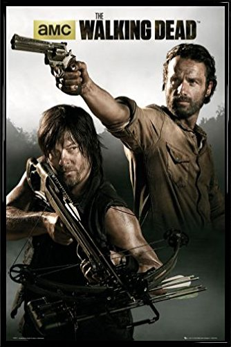 Amazon.com: 1art1® The Walking Dead Poster and Frame (Plastic ...