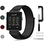 C2D JOY Sport Loop Works with Garmin vivoactive Replacement Bands GPS Watch Woven Nylon Band No Buckle Needed - 4 Colors, One Size