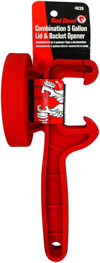 Red Devil 4039 Combination 5 Gallon Lid & Bucket Opener