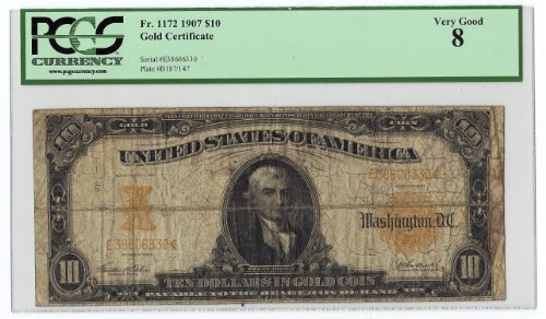 $10 Gold Certificate 1907 (Gold Certificate Currency)