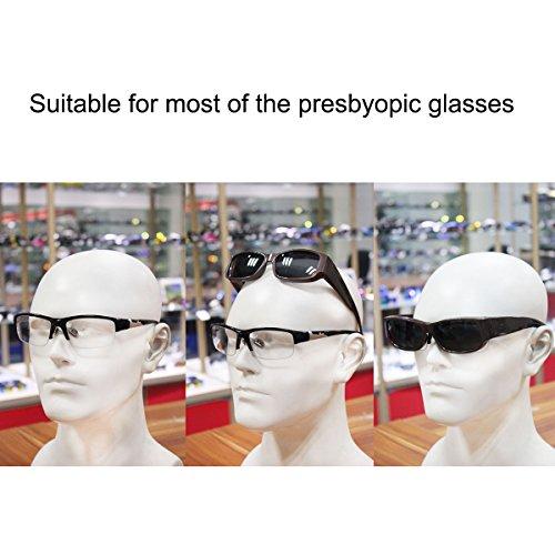 Conducción Gafas Around sol más Plateado de Polarizado de gafas Wrap Glasses Ajustar 8qAfnw