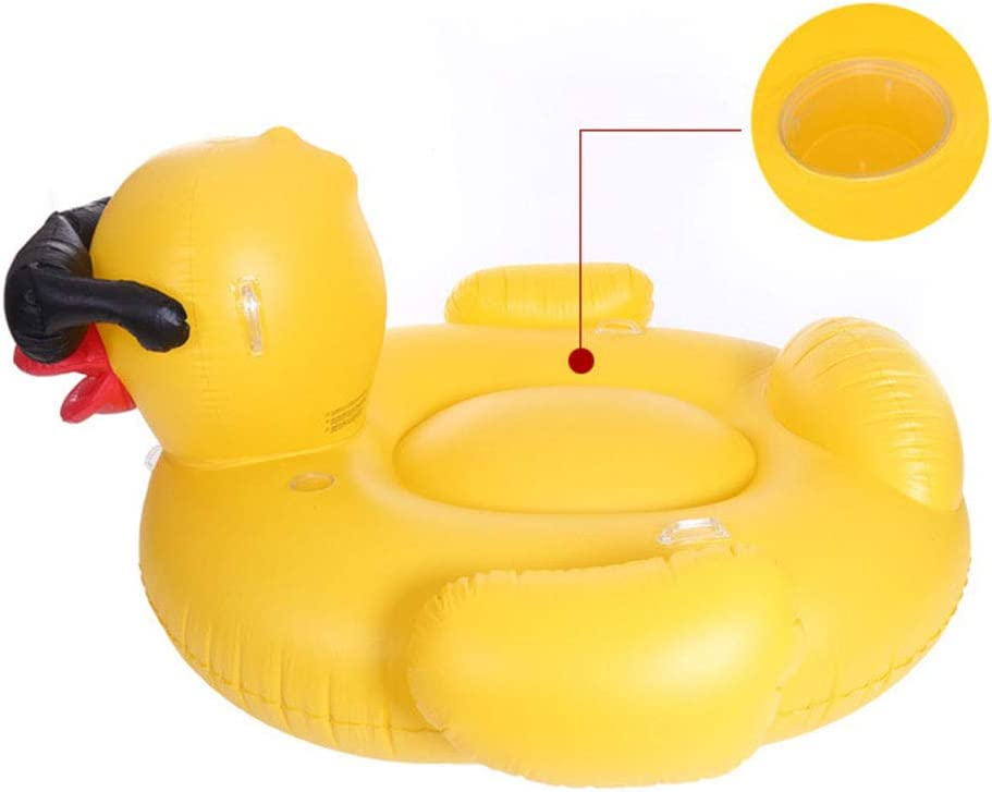 KNlang インフレータブルPVCプールは、大人の子供のためのシートアヒルの形を浮かべる子供たちの少年フロートのおもちゃ (サイズ : 220C)