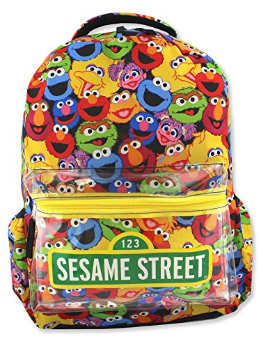 Sesame Street Gang Elmo Boys Girls Toddler 16 inch School Backpack (One Size, Multicolor) (Sesame Street Box Toy)