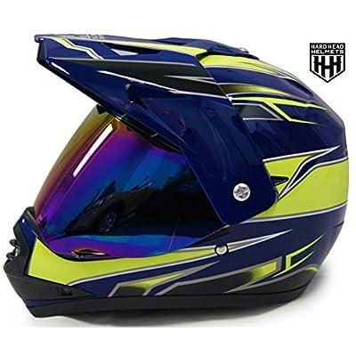 HHH DOT Youth Helmet for Dirtbike ATV Motocross MX Offroad Motorcyle Helmet with VISOR: Automotive
