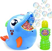 Kidzlane Bubble Machine - Bubble Machine for Toddler and Kids Outdoors - Automatic Bubble Maker 500 Bubbles pe