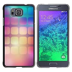 TopCaseStore / la caja del caucho duro de la cubierta de protección de la piel - Pattern Wallpaper Squares Gradient Color - Samsung GALAXY ALPHA G850