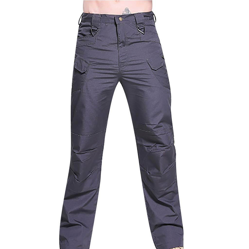 Alalaso Cargo Pants for Men, Men's Outdoor Work Military Tactical Pants Summer Hiking Pants Mens Lightweight Cargo Pants Gray
