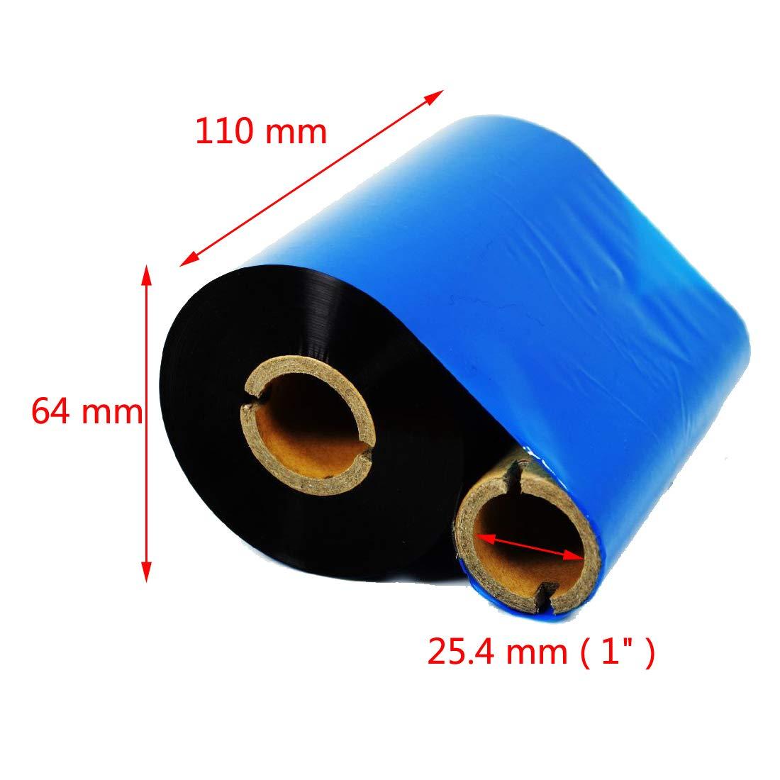 Tinta Afuera Calculable Cinta de Transferencia T/érmica Negro 4 pcs 110mmx300m
