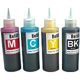 Ink refill set for CIS/CISS or refillable cartridges using Epson 68, 69 ink: Workforce 40, 310, 500, 600, 610 & NX100, NX115, NX200, NX215, NX400, NX415, NX515