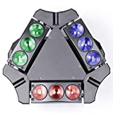 JUDYelc Professional LED 9 Head Bird Spider Lights New Bar Wedding DMX Moving Head Light Bar KTV DJ Disco Stage Beam Lighting