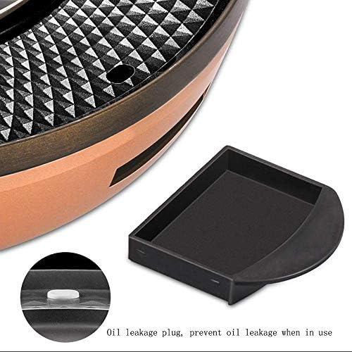 Feceyq Barbecue électrique Hot Pot, Surface de revêtement antiadhésif, avec couvercle en verre, durable et facile à nettoyer