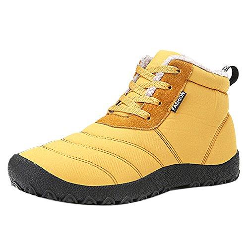 COOLCEPT Herren Mode Winter Stiefel Warm Lined Extra Gr Yellow