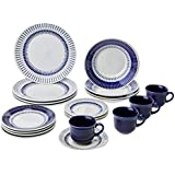 Aparelho de Jantar Chá com 20 Peças Biona Colb Branco/Azul