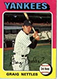 1975 Topps Baseball Card IN SCREWDOWN CASE #160 Graig Nettles Mint