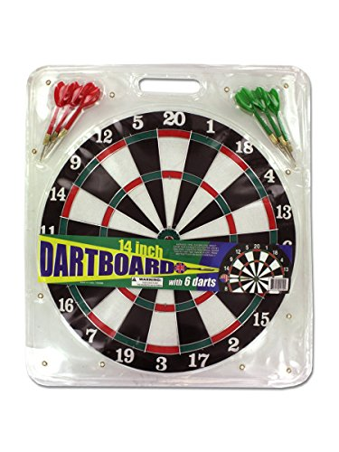 Dartboard with 6 darts, Case of 16
