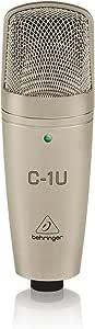 Behringer C-1U C-1U Behringer C1U USB Studio Condenser Microphone, Light Gold