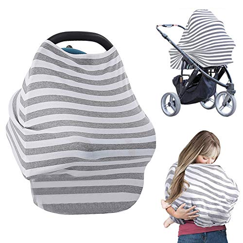 (Ucio Baby Car Seat Cover - Special Design for Nursing Cover, Baby Breastfeeding Cover, High Chair, Shopping Cart, Infant Stroller Cover Over 15 Usages for Boys and Girls )