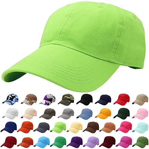 - Falari Baseball Cap Hat 100% Cotton Adjustable Size Light Green 1816