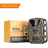 Hiram Trail Camera 12MP 1080P 2.4 LCD Hunting & Game Camera with 940nm Upgrading IR LEDs Night Vision up to 65ft/20m IP66 Waterproof & Dustproof Design