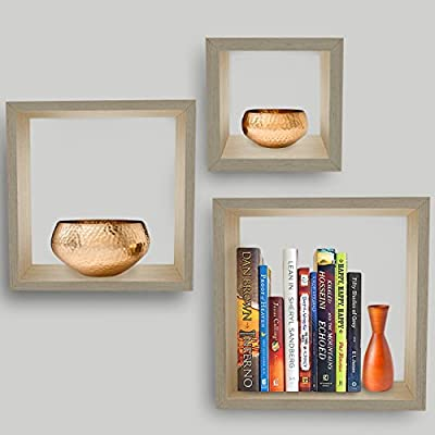 Sorbus Floating Shelves Storage Set for Picture Frames, Collectibles, Decorative Items, Great for Living Room, Office, Bedroom, Bathroom -  - wall-shelves, living-room-furniture, living-room - 51fn3o4vv%2BL. SS400  -