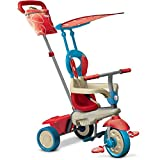 smarTrike Vanilla 4-in-1 Baby Trike Light-Weight 12 pound with Canopy - Blue Red
