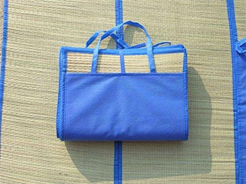 Folding Straw Beach Mat With Handles Yoga Sun and -