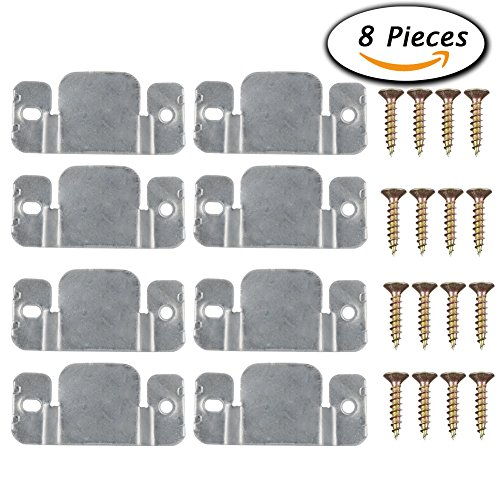 Paxcoo 8 Pcs Metal Sectional Sofa Interlocking Furniture Connector with Screws (Bracket Connector)