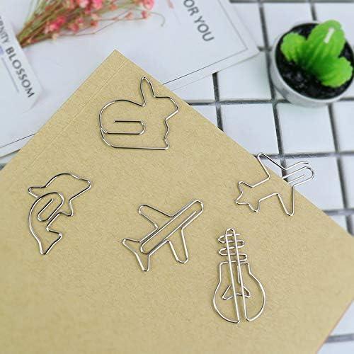 Clip para papel - 4 piezas de material de metal delfín forma plana ...