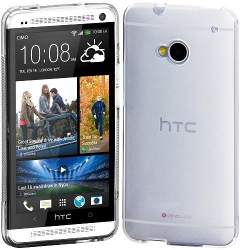 Cimo HTC One Case Grip Premium Flexible TPU Cover for HTC One M7 (2013) - Frosted Clear