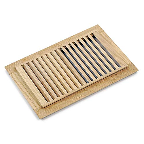WELLAND Hardwood Self Rimming Floor Register Vent Unfinished, 6 inch x 12 inch, White - Vent Register Inch 12 Floor Wood