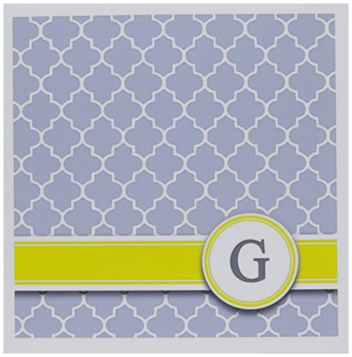 3dRose Your personal name initial letter G - monogrammed grey quatrefoil pattern - personalized - Greeting Cards, 6 x 6 inches, set of 6 (gc_154573_1) (Note Personalized Letters Cards)