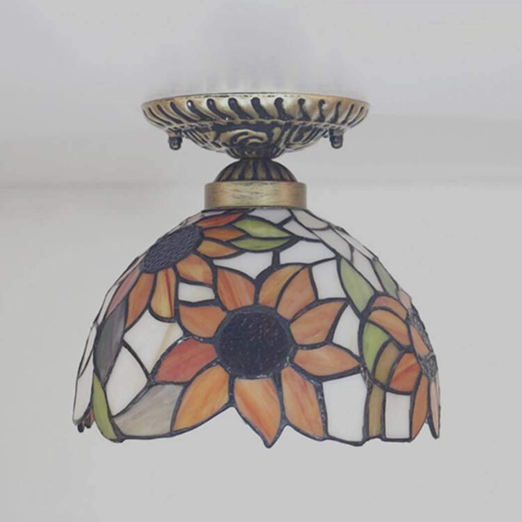GAOLIQIN Lámpara de Techo de Estilo Tiffany, vitral Luz de ...