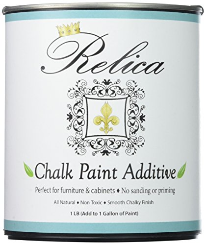 Chalk Paint Mix by Relica Chalk Paint Powder With Quart Can and pouring spout for Mixing - 1 lb to mix with 1 Gallon of the paint of your choice. - Non Toxic - Chalk Paint Additive Kit