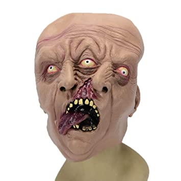 Máscara De Halloween Horror Scary Doble Cara De Látex De Tres Ojos Máscara Fiesta Película Y