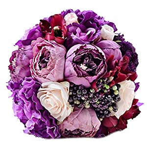 ONLY-FOR-ME-1 New Bridal Bouquet Roses Wedding Accessories Bouquet Artificial Wedding Flowers Wedding Bouquet,S1 9