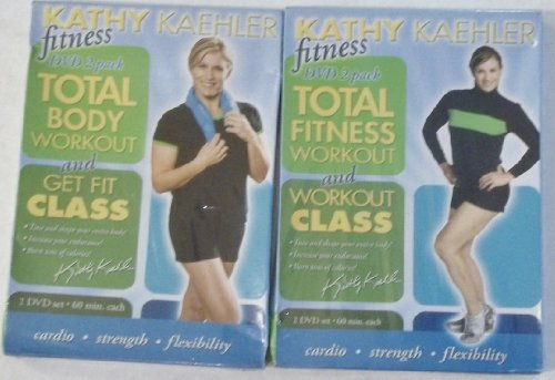 Kathy Kaehler: 2 Double DVD Packs: Total Fitness Workout and Workout Class + Total Body Workout and Get Fit Class