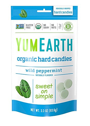 YumEarth Organic Wild Peppermint Hard Candy, 3.3 Ounce Pouches (Pack of -