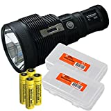 Nitecore TM38 Lite 1531 Yards 1800 Lumens Long Throwing Rechargeable Searchlight LED Flashlight, 4 x 18650 3500mAh Batteries and 2 x LumenTac Battery Organizer Bundle