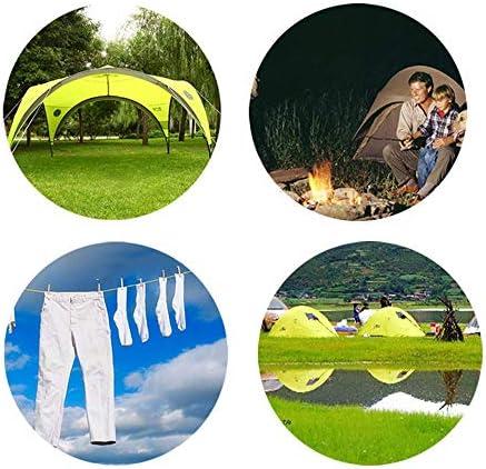 Amaoma Tensores Reflectantes Tensores de Tiendas Cuerda Nylon 3mm Accesorios Tienda de Campaña con Ajustador de Aluminio Tensores Camping para ...