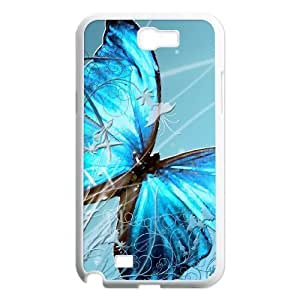 case Of Butterfly Customized Bumper Plastic Hard Case For Samsung Galaxy Note 2 N7100