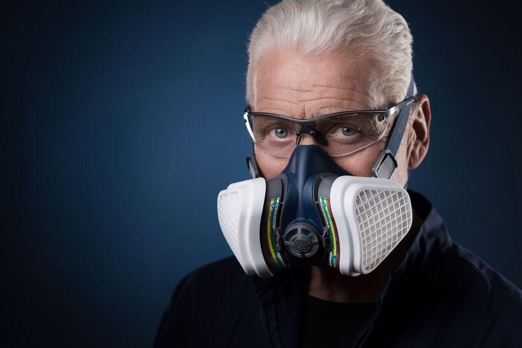 Elipse SPR491 Universel demi masque protection respiratoire, ABEK1P3, Taille-Medium/Large, bleu (Pack de 2) GVS